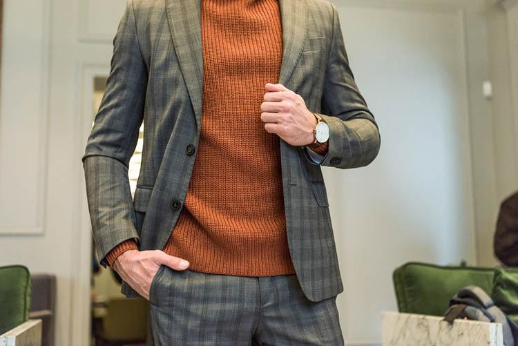 man in formal wear with watch