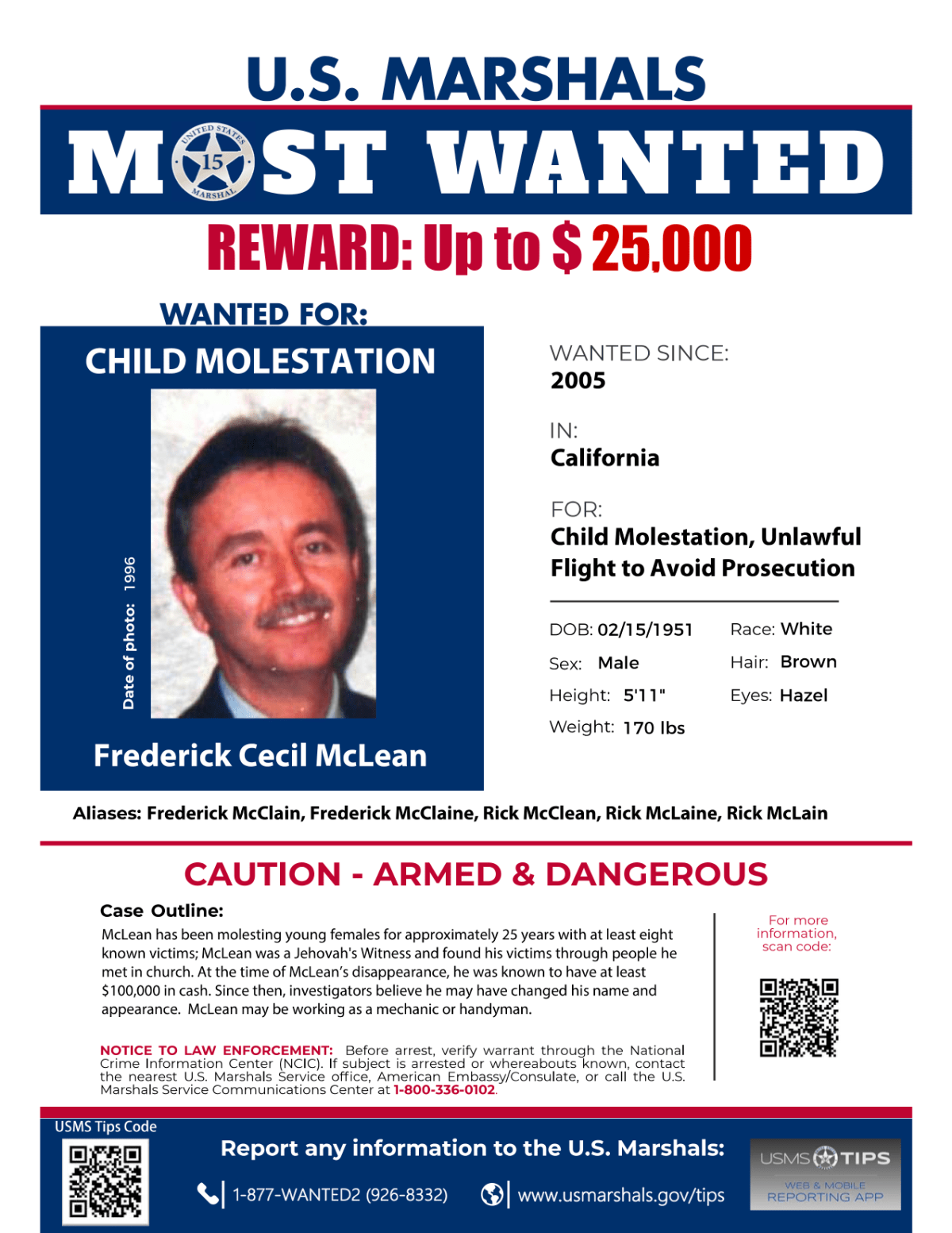America's Most Wanted: Frederick Cecil McLean, Most Wanted Poster (2021)