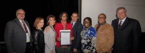 Forest Park WeTHRIVE team receiving their proclamation