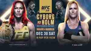 Watch UFC 219: Cyborg vs Holm