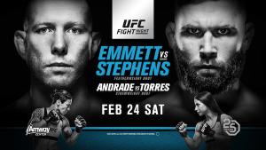 Watch  Emmett vs Stephens UFC on FOX 24 Feb 2018