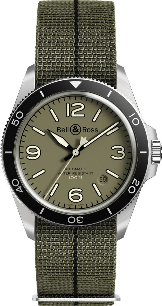 FACE BRV2 92 Military Green Canvas Strap.png 1600px