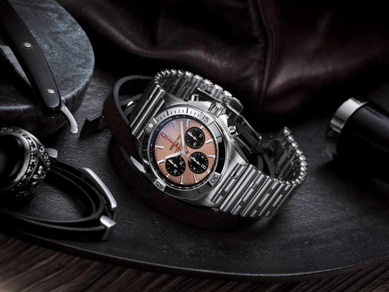 06 Chronomat B01 42 With A Copper Colored Dial And Black Contrasting Chronograph Counters 1024x768