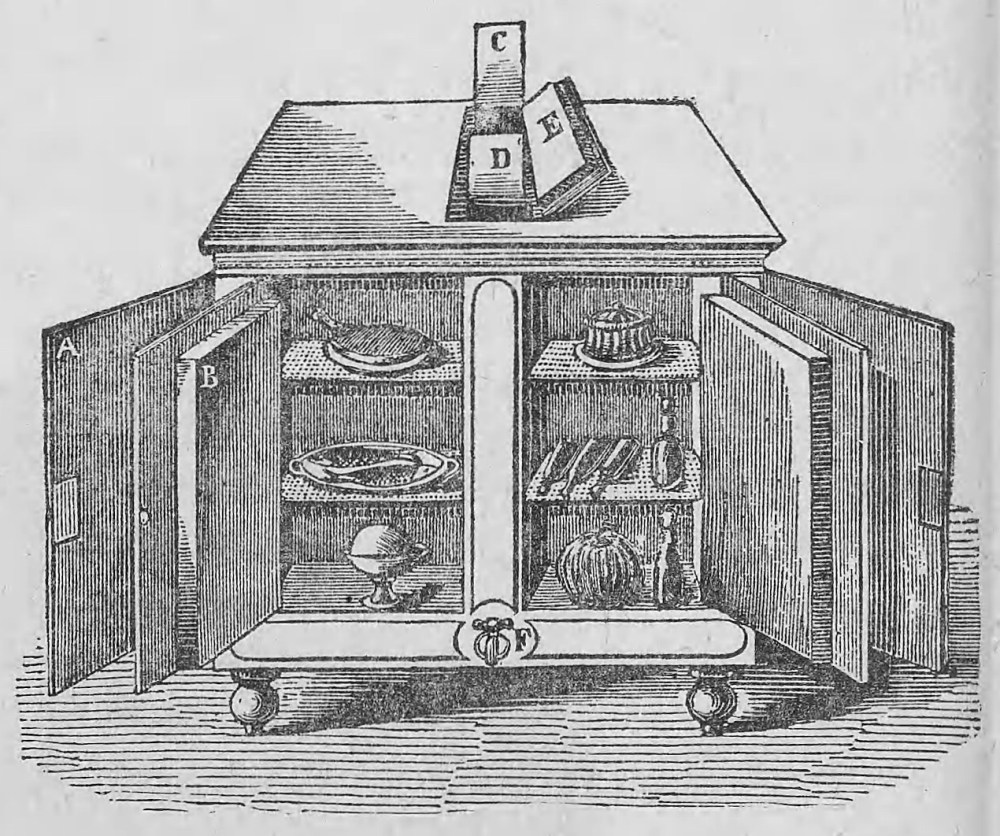 Ice Box Used In Cafes Of Paris In Late 1800s 1024x856