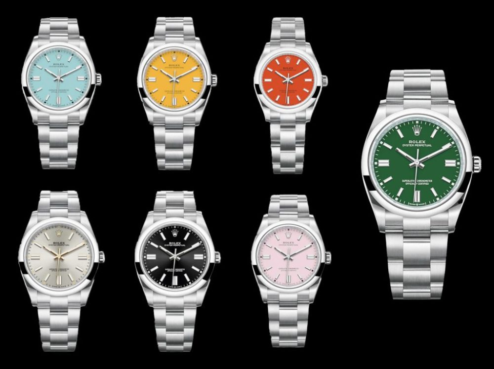 New 2020 Oyster Perpetual different colour options new Rolex Oyster Perpetual