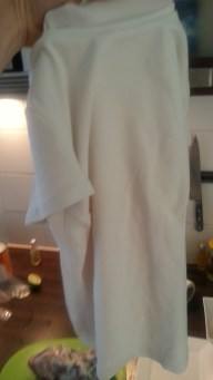 Een oud t-shirt van mevrouw, maatje 36.