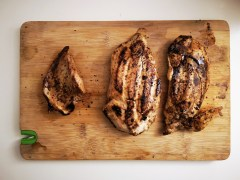 Leg vs plof vs boerderijkip – het eten