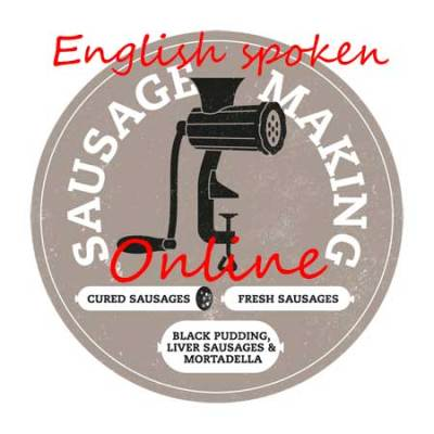 ENGLISH SPOKEN online masterclass 'make your own dried/cured sausage'