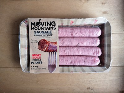Meneer proeft Moving Mountains Vegetarische worst
