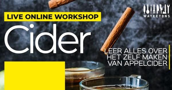 workshop cider maken