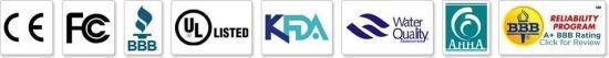 purificador -ionizador de agua AlkaViva certificaciones