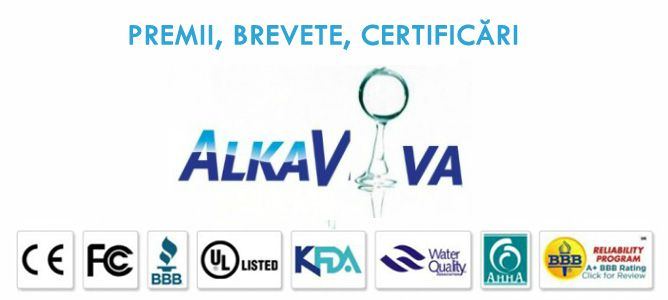 CERTIFICARI , PREMII, BREVETE aparate purificat filtrat ionizat hidrogenat apa AlkaViva