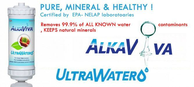 AlkaViva Elita US 700 - UnderSink ionized water filter -non electric Under Sink water ionizer - clean , mineral,alkaline, antioxidant, hydrogen water