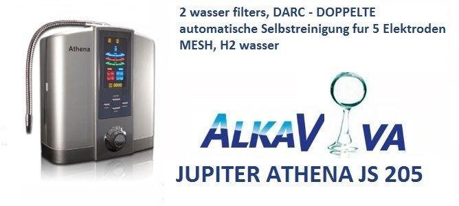 AlkaViva wasser ionisierer Jupiter Athena js205 : 2 wasser filters, DARC -2 X AutoSelbtreinigung,5 elektroden MESH, H2 wasser