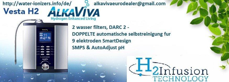 AlkaViva Vesta H2 Wasser-Ionisator-Reiniger (2 Filters)