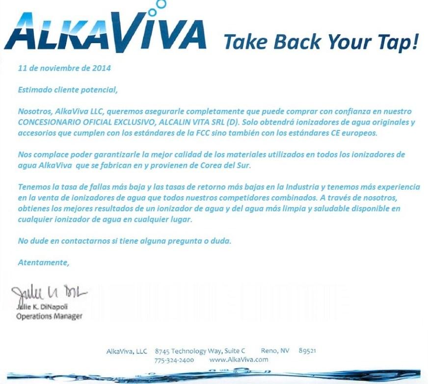 AlkaViva CONCESIONARIO OFICIAL EXCLUSIVO