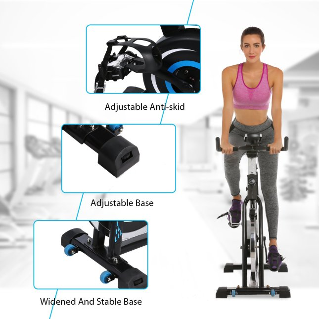 ancheer 49lbs indoor cycling bike