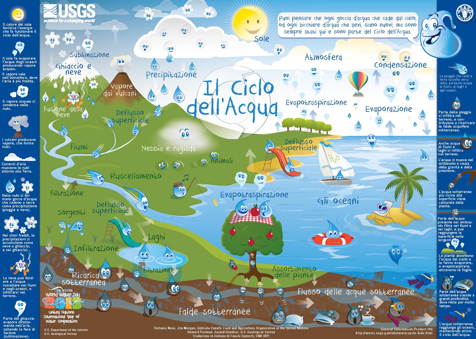 Il Ciclo dell'Acqua per bambini
