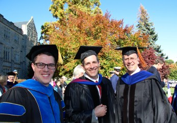 Drs. McGuire, Schoenholtz and Carstensen attended the installation ceremonies