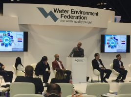 "Alex Berhitu of Water Alliance participates in discussion ""Technology innovation and demonstrations Hubs around the world"""