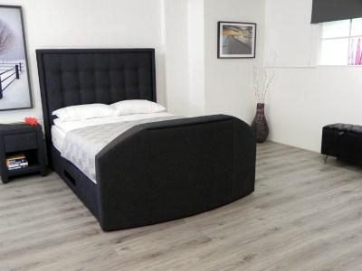 Hudson TV Waterbed headboard in black fabric