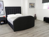 Hudson TV Waterbed headboard in black fabric