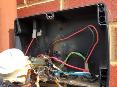 Start Box has badly ruptured capacitor that needs replacing