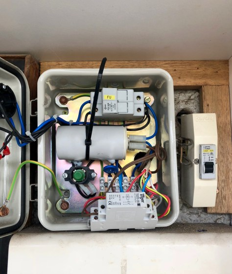 Faulty capacitor replaced by bore electrician