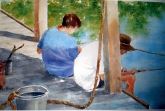 Butler, Kathy, Title: Boy's Work Award: Patron Fine Art Award Awarded by M. Graham Watercolors