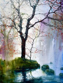 Z. L. Feng, Morning Creek, Award: Southern Watercolor Society Award