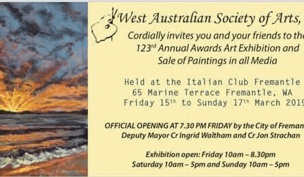 West Australian Society of Arts Annual Awards Art Exhibition – 2019