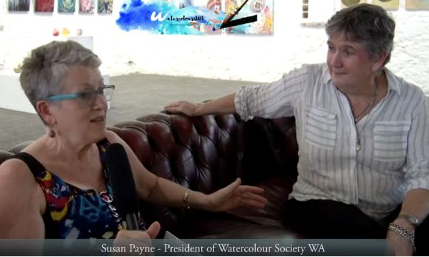 International Watercolour Exhibition 2020 in Fremantle – Video Interview – Susan Payne