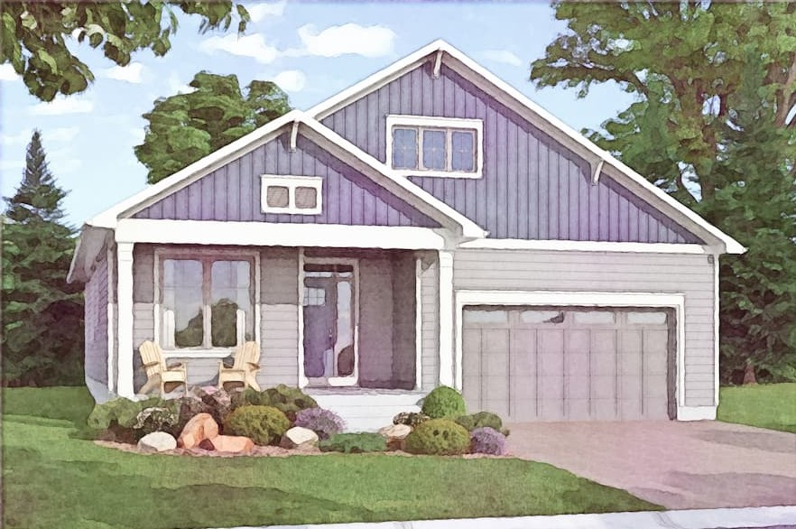 A watercolour illustration of the Opinicon Bungalow at Watercolour Westport.