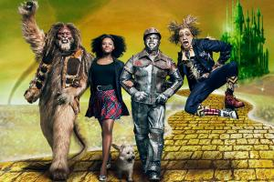THE WIZ LIVE! -- Season: 2015 -- Pictured: (l-r) David Alan Grier as Lion, Shanice Williams as Dorothy, Ne-Yo as Tinman, Elijah Kelly as Scarecrow -- (Photo by: Kwaku Alston/NBC)