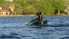 February in Texas having fun on a 310 HP Jetski.