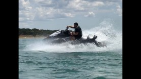Yamaha FX Cruiser SVHO riding on Lakes in central Texas