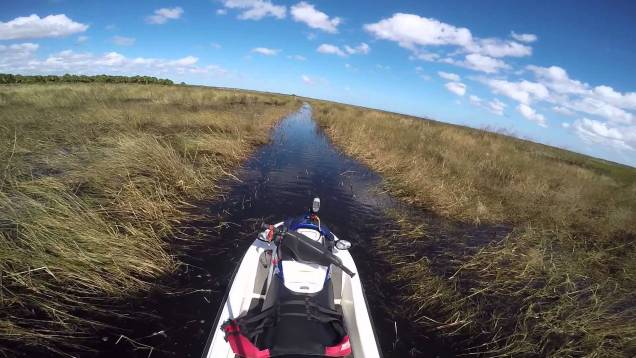 Jetskiing and getting stuck in a remote airboat trail