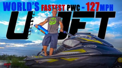 EXCLUSIVE VIDEO WORLD'S FASTEST PWC 127MPH by UVA PEREZ UJET