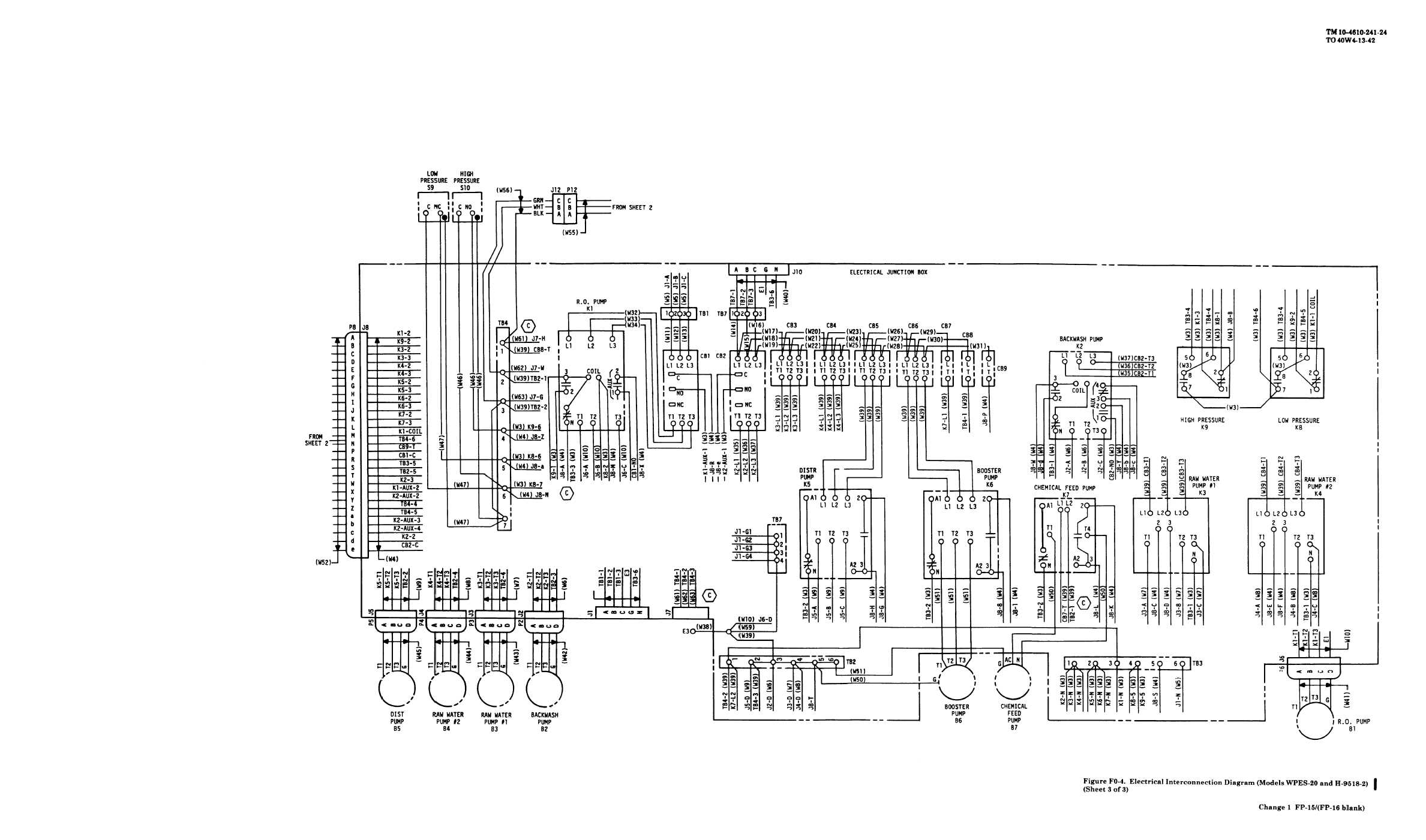Figure Fo 4 Electrical Interconnection Diagram Sheet 3 Of 3