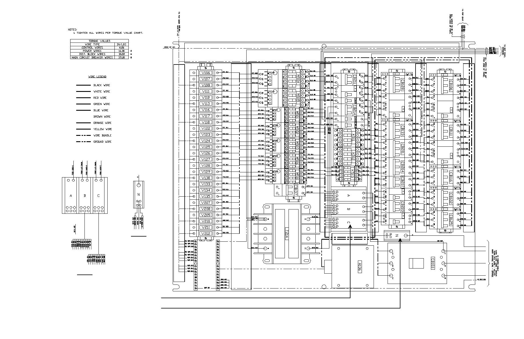 Figure 4 Twps Point To Point Wiring Diagrams Pdp Sub Panel Power Sheet 1 Of 4