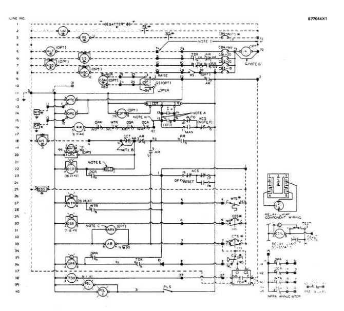 control panel wiring schematic