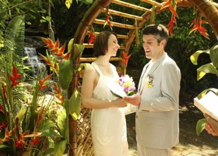 Exotic Waterfall Wedding