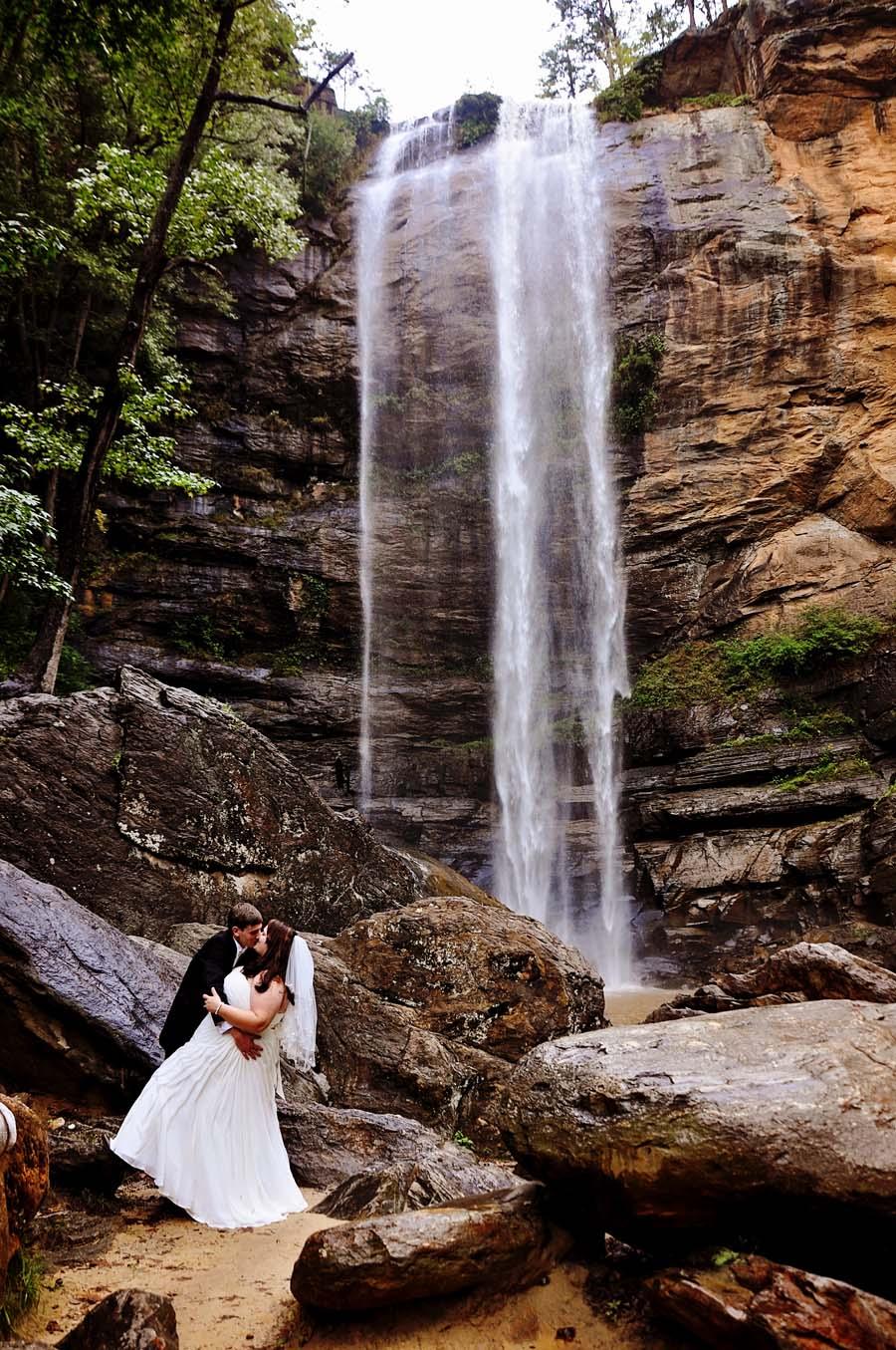 waterfall weddings at toccoa falls