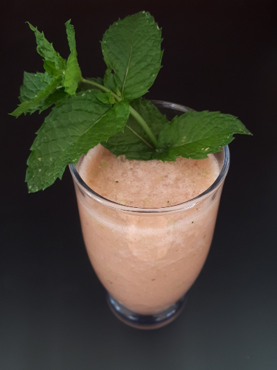 summer smoothie in glass