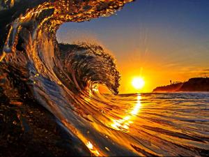 15 sunrise and ocean wave (widget)