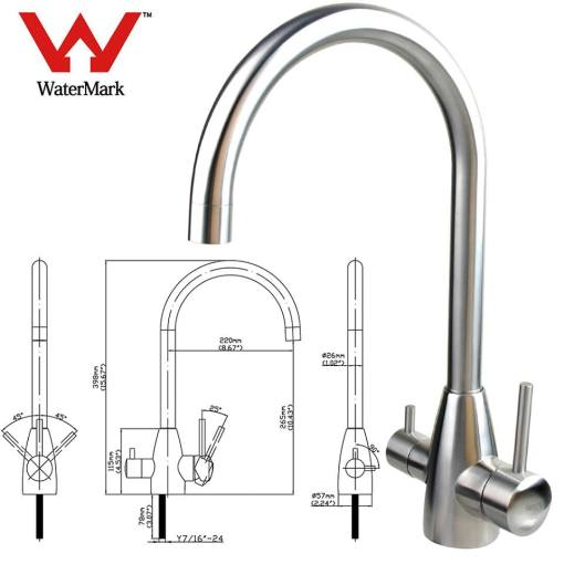 3-way triflow kitchen mixer tap Australia
