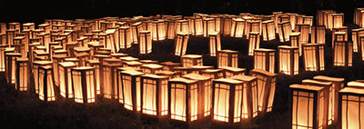 Celebrate at WaterFire with a Luminaria dedication, photo by Jeffrey Stolzberg.