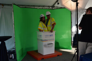 The National Grid photo booth. Photograph by Luis Andrade.