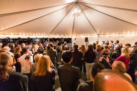 2018-9-8 WaterFire Tech Night Reception on Steeple Street (Photograph by Matthew Huang)