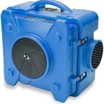 Blower used for water clean up eliminating water, mositure and preventing mold.